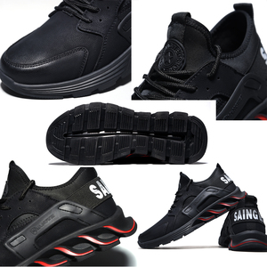 Image 5 - New winter solid safety shoes steel head anti smashing stab resistant work shoes breathable protection toe