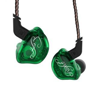 Image 5 - KZ ZSR 6 sterowniki armatura + dynamiczny hybrydowy zestaw słuchawkowy HIFI Bass redukcja szumów słuchawki douszne ZSNPRO ZS10PRO ZSX C12 AS10 ZST