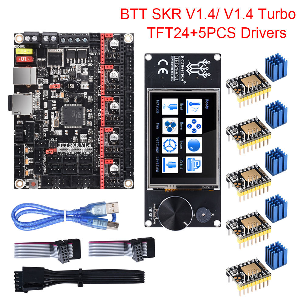 BIGTREETECH BTT SKR V1.4 SKR V1.4 Turbo Control Board TFT24 Touch Screen Upgrade SKR V1.3 TMC2209 TMC2208 Stepper Motor Driver