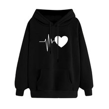 Hillbilly  streetwear hip hop new Spring autumn hoodie men Electric heart printed Lazy casual Cotton sweatshirt