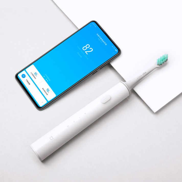 Inteligentny elektryczna szczoteczka do zębów ładowania bezprzewodowego wodoodporna APP sterowania wybielanie zębów wibrator higieny jamy ustnej wysokiej częstotliwości do czyszczenia