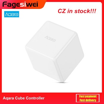 Aqara Cube Controller Smart Home Controller 6 Action Operation For Home Device Zigbee Version App Wireless Remote Control high performance mobile phones app solar controller inverter wireless controller