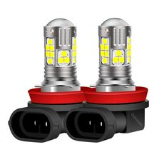 2 sztuk H11 H8 P13W 9006 HB4 9005 HB3 wysokiej jakości 3030 LED lampa przeciwmgielna do samochodów o dużej mocy samochodów Anti żarówka do lampy przeciwmgielnej Foglamps 6000K biały