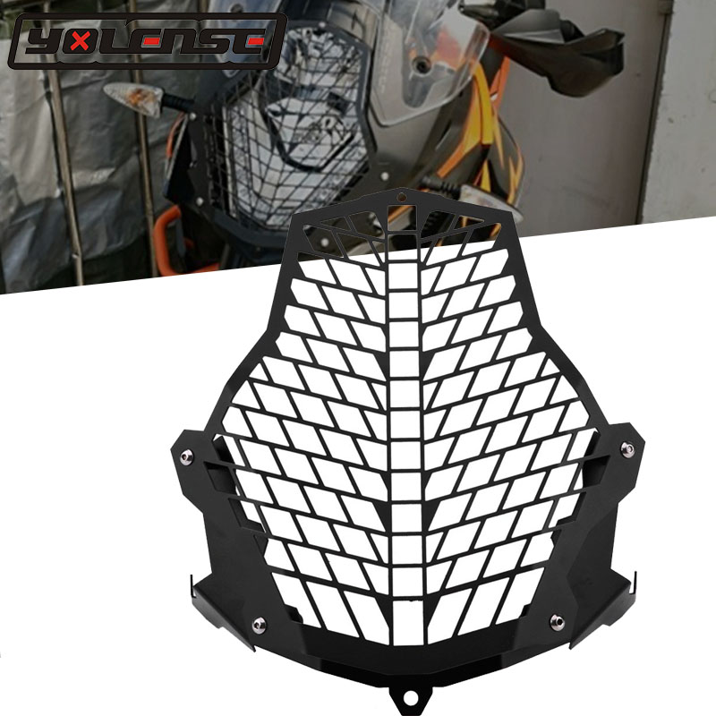 Motorcycle Accessories Headlight Protector Guard light Lense Cover For KTM 1290 1190 1090 1050 Super Adventure ADV