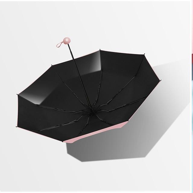 Five-holding sun umbrella sun protection UV folding umbrella female sunshade rain dual-use capsule compact portable pocket 4