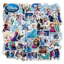 50 sztuk/zestaw Disney Frozen 2 Elsa księżniczka naklejki Cartoon Anna Olaf Graffiti naklejki wodoodporne naklejki na deskorolkę laptopa