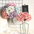 1 Шелковый букет вазы с гортензиями для украшения дома аксессуары товары для дома Искусственные цветы Свадебные Декоративные цветы