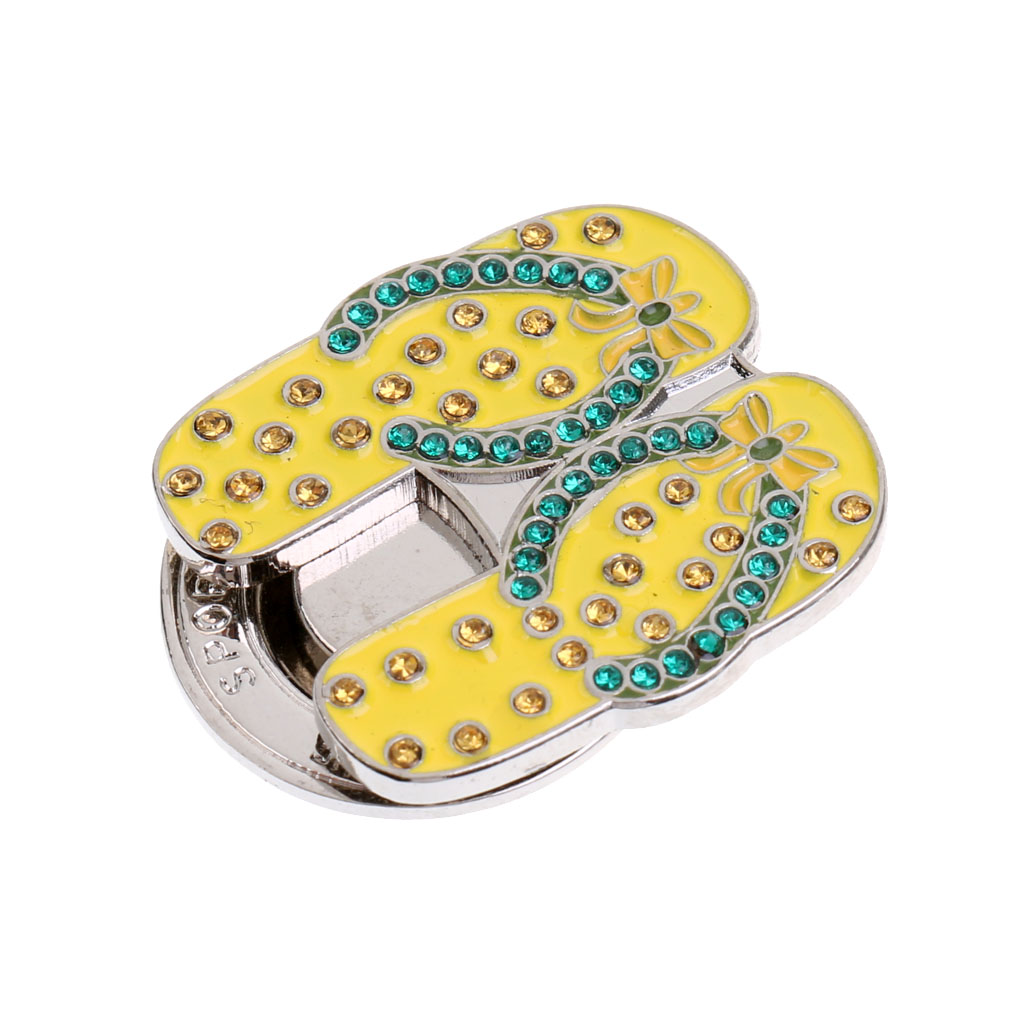 Bling Sandals Slippers Hat Clip Golf Ball Marker Clip Onto Golf Cap Visor