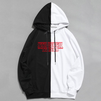 Fashion Splice Cool Men Hip Hop Hoodies Stranger Things Casual Sweatshirts Streetwear Men Women Pullover Harajuku Hoodie Male 1