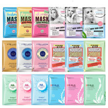 18Pcs IMAGES Hyaluronic acid snail silk protein fruit face masks Soften skin Shrink pores Acne Treatment facial mask care