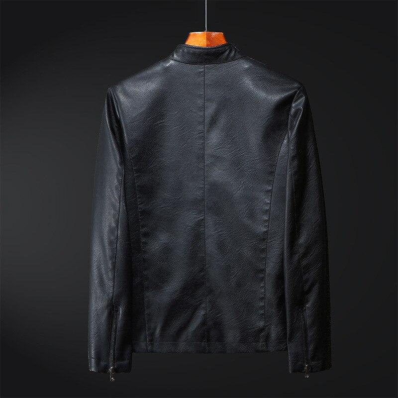 2019 Autumn New Style Men Youth Leather Coat Men's Thin Leather Jacket Slim Fit Locomotive Korean-style Casual Coat Fashion