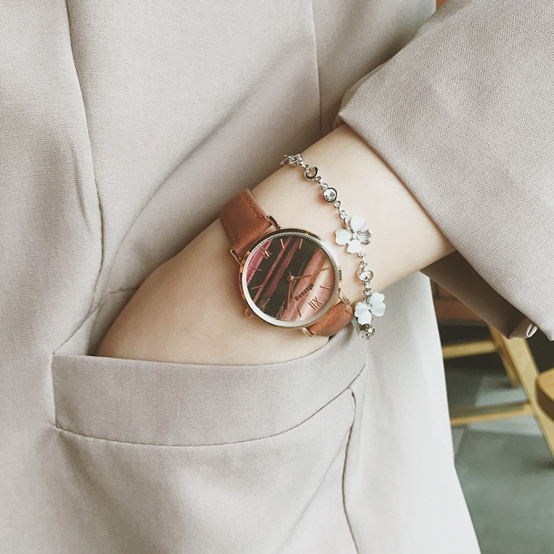 Fashion Women Marble Watches Korean Style Retro Ladies Quartz Watch Female Exquisite Leather Wrist Watches montre femme 2019 Hot in Women 39 s Watches from Watches