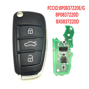 Datong World Car Remote Key For Audi A3 TT S3 A4 S4 Part Number 8P0837220D 434 Mhz 48 Chip Auto Smart Flip Key With HU66 Blade