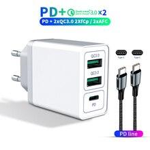 36W USB C Sạc Nhanh 3.0 EU Adapter Sạc Điện Thoại Cho Iphone 11 Samsung S9 Huawei SCP QC3.0 QC C PD Sạc Nhanh