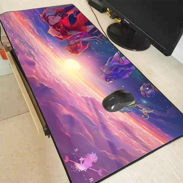XGZ League of Legends Girl Gaming Large Locking Edge Mousepad Desk Mat Computer Game Mouse Pad Gamer Play Mats For CSGO DOTA XXL 1