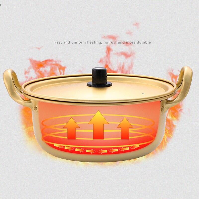 Household Gold Non-Stick Soup Pot 4