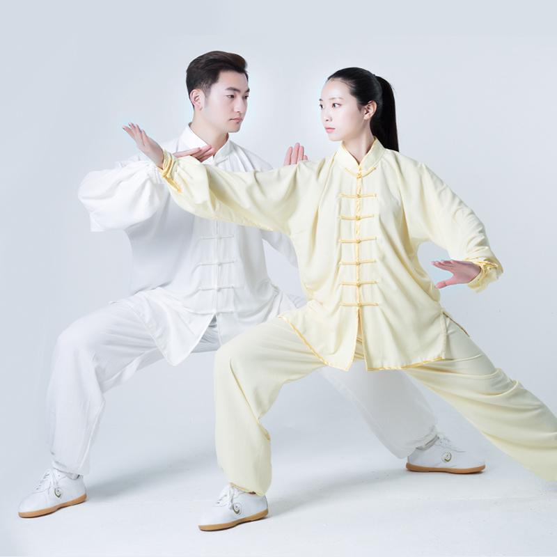 Tai Chi Uniform Cotton Unisex Traditional Chinese Clothing Wushu Clothing Spring And Summer Wing Chun Performance Clothing