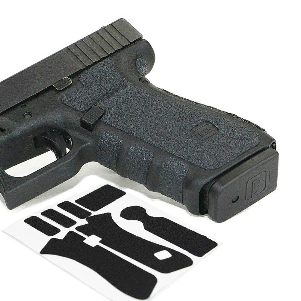 Guante de goma antideslizante agarre con textura para Glock 19 19X 23 25 32 38 Gen 3 4 5 pistolera 9mm pistola accesorios para revistas Tira de LED para iluminación trasera para LG 32
