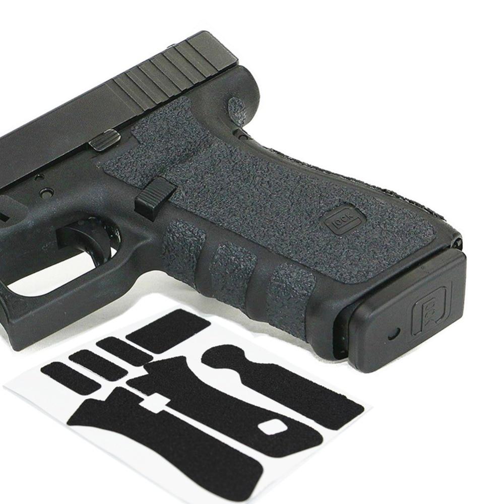Non-slip Rubber Texture Grip Wrap Tape Glove For Glock 19 19X 23 25 32 38 Gen 3 4 5 Holster 9mm Pistol Gun Magazine Accessories