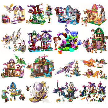 Elves Dragon Series Sanctuary Fairy Friends Model Figures Building Block Kid Toys For Children Gift
