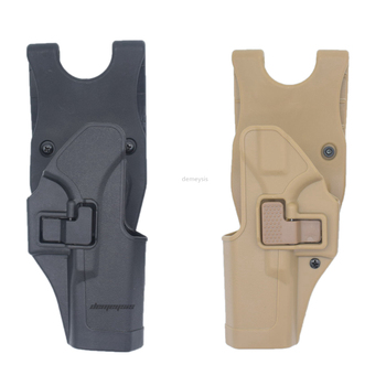 Black Tan Left / Right Hand Tactical GLOCK Tactical Gun Pistol Holster fits GLOCK 17 19 22 23 31 32 RH GLOCK holster tactical lv3 glock leg holster with flashlight fit for glock 17 19 22 23 31 32 glock gun military hungting holster