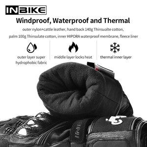 Image 3 - Inbike冬の手袋オートバイ防水暖かいバイク手袋ギア保護熱フリース男性オートバイ防風手袋