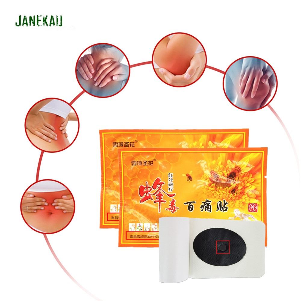 Chinese Medical Health Care Bee Venom Balm Pain Relieving Patch Orthopedic Rheumatoid Arthritis Body Pain Killer Plaster D1821