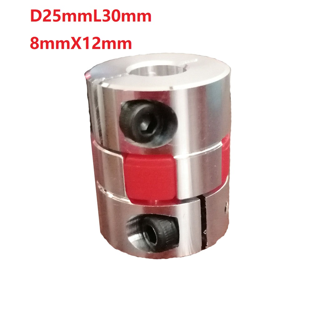 1pcs 8X12 D25L30 Aluminium Shaft Plum blossom <font><b>Coupling</b></font> Motor Connector Flexible shaft image