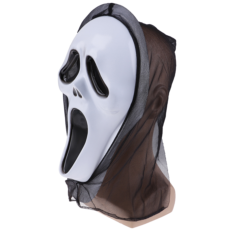 Novelty Toys Halloween Ghost Face Mask Horror Screaming Grimace Mask For Adult Scary Cosplay Prop Carnival Masker Party Decor