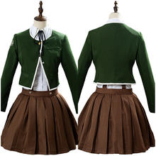 Danganronpa Dangan Ronpa Chihiro Fujisaki Cosplay Uniform Coat Skirt Shirt For Girls Halloween Party Full Set(China)