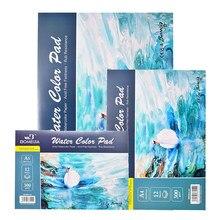 Bloc con hojas para pintura, papel artístico de 300g/m2, 100% de algodón para pintura con acuarela y bocetos
