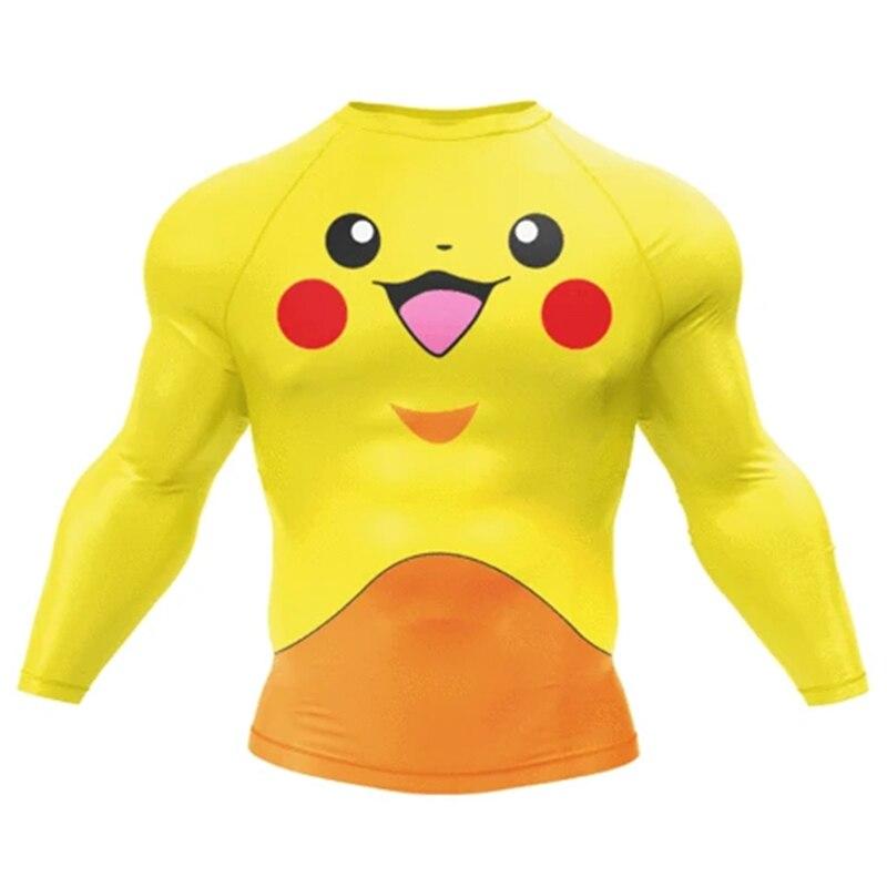 Men Sportswear T Shirts Dry Fit Mma Tee Anime Cartoon Digital Printing Rash Guards Boy Men Funny Tops T Shirts Aliexpress