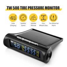 AUTOOL TW500 Alarm ciśnienia w oponach temperatura w oponach prędkość zegar wysokościowy uniwersalny bezprzewodowy HUD Solar Energy TPMS na wszystkie samochody
