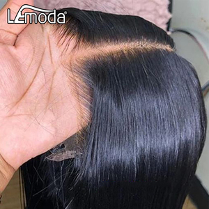HD Transparent Lace Wigs 13x6 Lace Front Human Hair Wig Lemoda Remy 4x4 Closure Wig Brazilian 30 Inch Straight Lace Frontal Wig