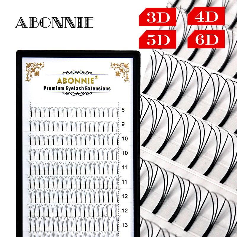 ABONNIE 12 Lines Premade Volume Fans 007/010/015 C D Lash Russian Volume Eyelash Extensions Pre Made Lash Extension Faux Mink