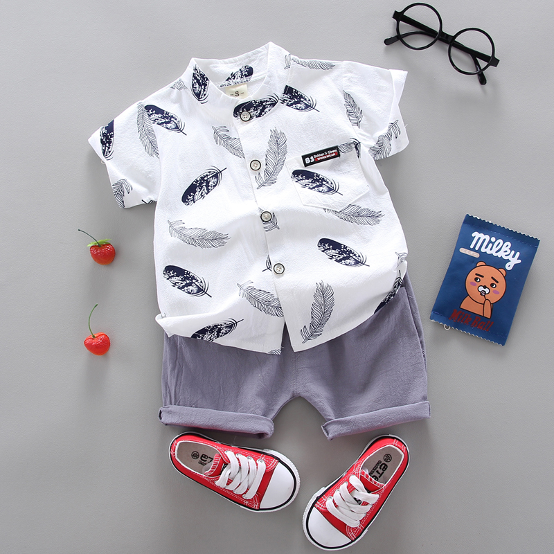 Boy Clothing Casual  Baby Girl's Summer Clothes   Set Sports shirt+ Shorts Suits  Clothes Cotton products Kids clothes 1