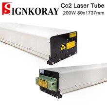SignKoray 200W Co2 Стекло лазерной трубки положительный высокое Напряжение 80x1737mm Стекло Лазерная лампа для CO2 Лазерная гравировальная и режущая маш...