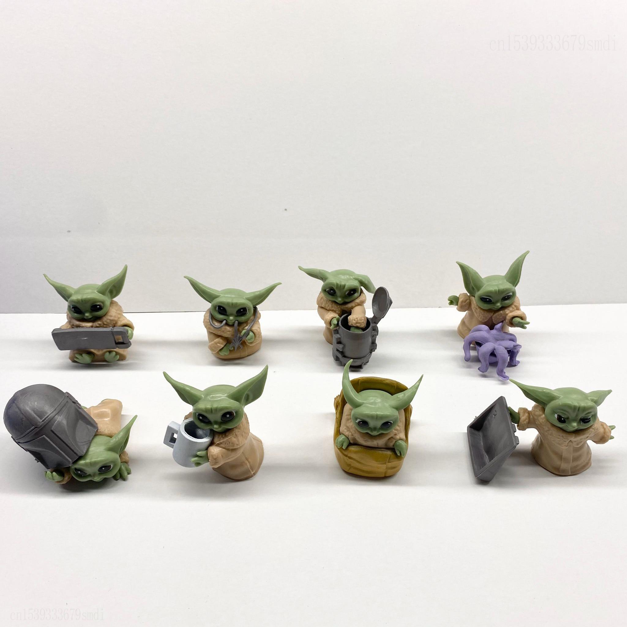 Action Figure, 8pcs, Yoda