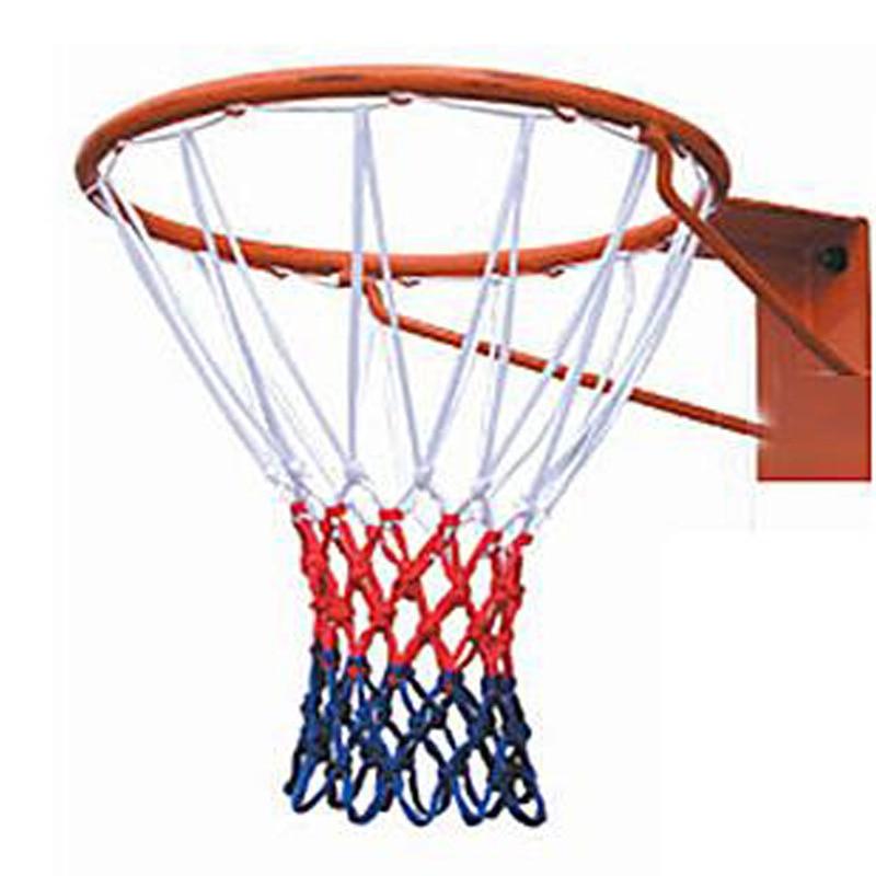 Manufacturers Direct Selling Customizable Basketball Mesh Basket Ring Net Polypropylene Rough Increase Three-Color Basketball Bo