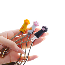 Cute Cat Paw Silicone Nipper Cover Protective Sleeve For Nail Cuticle Scissors Manicure Pedicure Tools Dead Skin Tweezers Cap