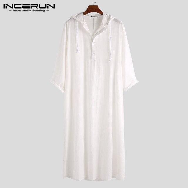 الهيب هوب نمط الرجال الملابس الإسلامية ثوب رداء مسلم قميص هوديس رداء السعودية العربية طويلة الأكمام قميص قفطان طويل Jubba ثوب Homb8 5