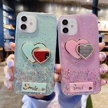 Glitter Case for for Huawei Y7A Y6P Y8S Y7P Y5p Case Silicon Y7 Y6 Prime Y9 Y5 2019 Prime 2018 Phone Heart Cover Y6 Pro 2019