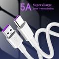 Микро USB кабель Type C кабель 5A быстрой зарядки для Samsung Xiaomi мобильный телефон кабель для передачи данных Type-C для Xiaomi Redmi Note 8