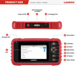 Image 5 - Launch X431 CRP123X Diagnostic Tool Auto Code Reader EOBD OBD2 Scanner Engine Transmission ABS SRS AutoVIN WIFI PK CRP123 VII+