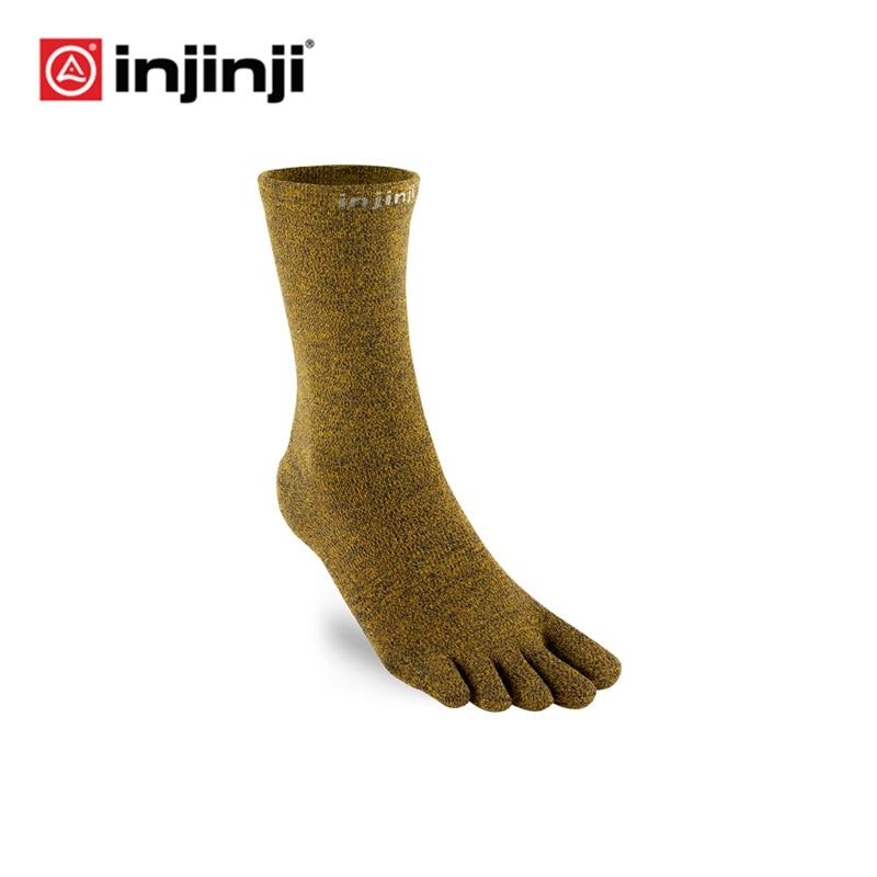 Injinji Toe Socks LINER CRW CoolMax Lightweight Breathable Deodorant Men Sport Yoga Deodorant Basketball Christmas Fitness Socks