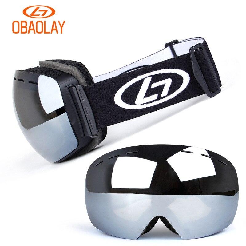 Snowboard & óculos de esqui com caixa