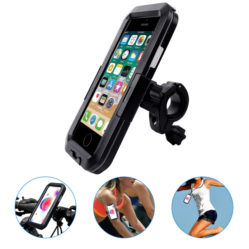 Universal Waterproof Durable Bicycle Mobile Phone Holder Bags Bike Motor Cell Phone Mount Stand Bag Bracket 4.7-6.5 inch