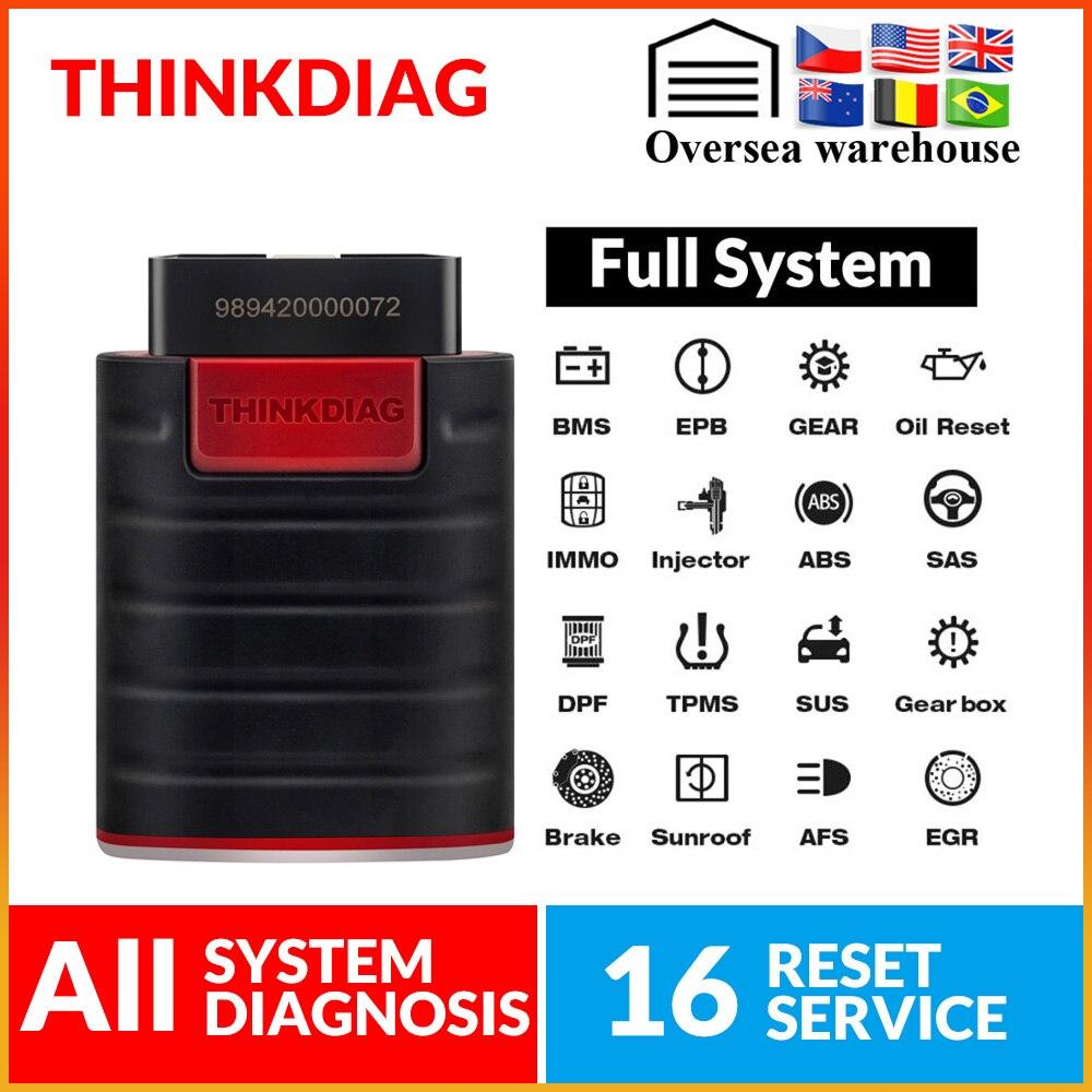 ThinkCar ThinkDiag Obd2 Obdii Code Reader All Systemdiagnostic Tool 15 Reset Think Diag Scanner Pk X431 Easydiag 3.0 Ap200 Golo