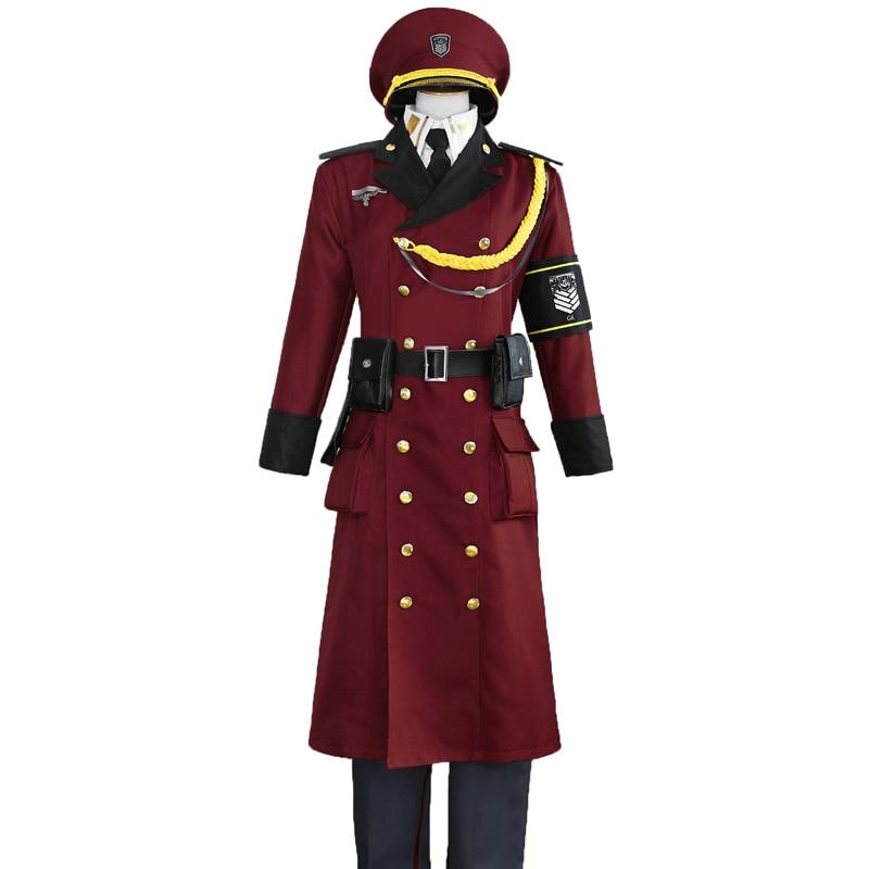 Uniforme militar de primera línea para niñas, disfraz de Cosplay Unisex con sombrero, Disfraces de Halloween 11