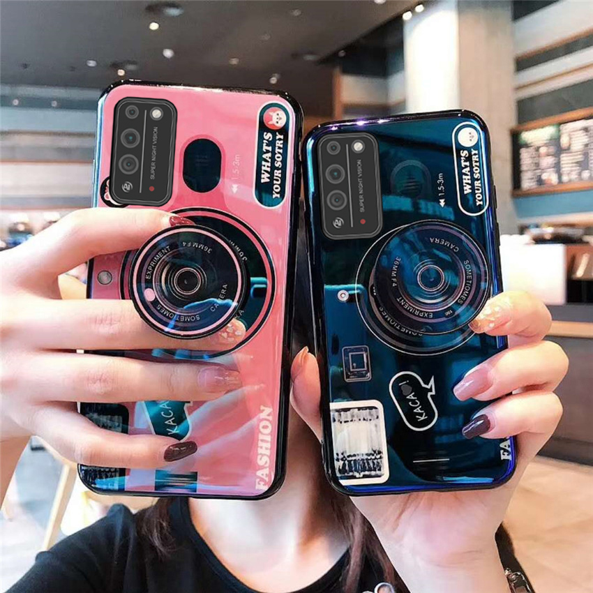 Camera Soft Phone Case For Huawei Y5P Y6P Y7P Y8P Y6 Y7 Y9 Prime Y5 2019 2018 Cover For Huawei P40 P30 Lite P Smart Plus Z Pro